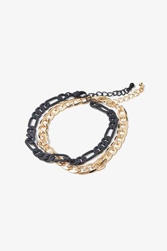 Forever21 Men Curb Chain Bracelet Set