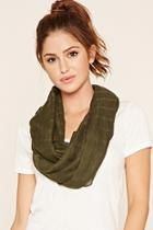 Forever21 Olive Woven Infinity Scarf
