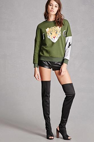 Forever21 Over-the-knee Cutout Sock Boots