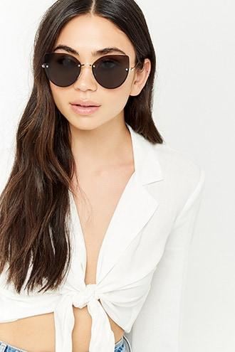 Forever21 Metal Cateye Sunglasses