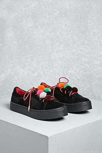 Forever21 Shoe Republic Pom Pom Sneakers