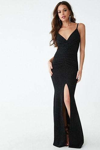 Forever21 Glittery Textured Gown
