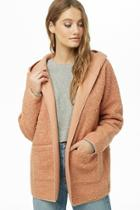 Forever21 Hooded Boucle Knit Jacket