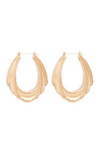 Forever21 Ribbed Doorknocker Earrings