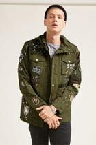 Forever21 Reason Patched Army Jacket