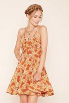 Love21 Women's  Rust & Tan Contemporary Cami Dress