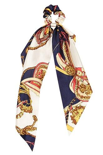 Forever21 Satin Scarf Print Bow Scrunchie