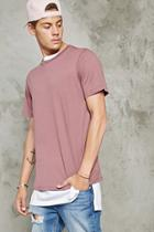 21 Men Men's  Mauve Classic Cotton Tee