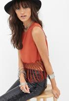Forever21 Fringed Woven Top