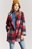 Forever21 Buffalo Plaid Snap-button Coat