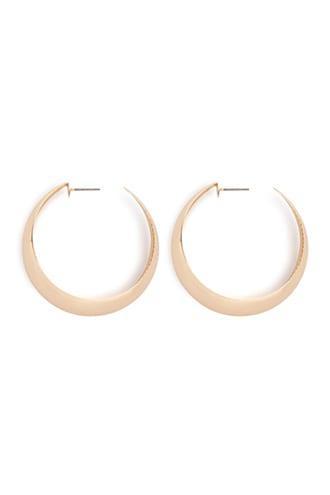 Forever21 Mirror-finish Hoop Earrings