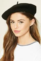 Forever21 Women's  Black Wool Beret