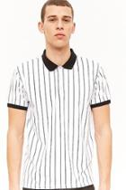 Forever21 Pinstriped Polo Shirt