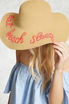 Forever21 Beach Sleep Graphic Straw Hat