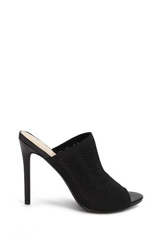 Forever21 Perforated Knit Stiletto Heels