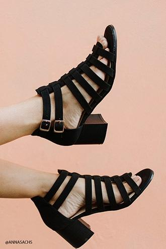 Forever21 Faux Suede Caged Heels