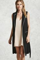 Forever21 Contrast-piped Longline Vest