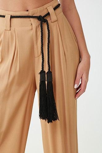Forever21 Tasseled Rope Self-tie Hip Belt