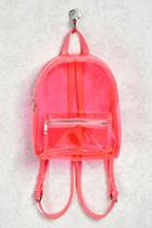 Forever21 Faux Leather Trim Clear Backpack