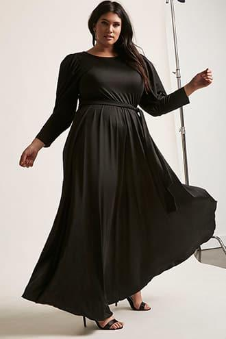41c043d1c9357 Forever21 Plus Size Eta Belted Maxi Dress | LookMazing