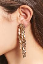 Forever21 Feather Tassel Drop Earrings
