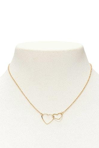 Forever21 Linked Heart Necklace