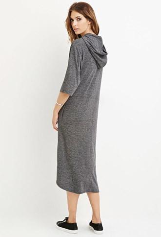 Love21 Hooded Midi Dress