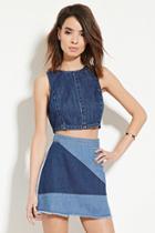 Love21 Women's  Contemporary Denim Mini Skirt