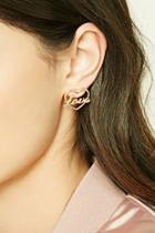 Forever21 Love Cutout Stud Earrings