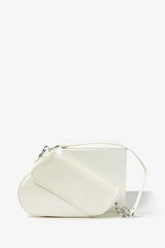 Forever21 Faux Patent Shoulder Bag