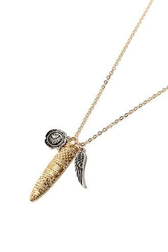 Forever21 Men Feather Pendant Necklace