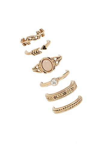 Forever21 Assorted Faux Gem Ring Set