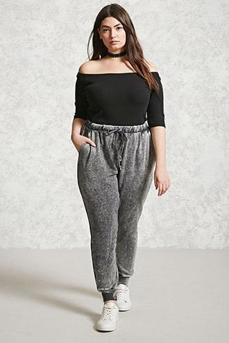 Forever21 Plus Size Faded Joggers