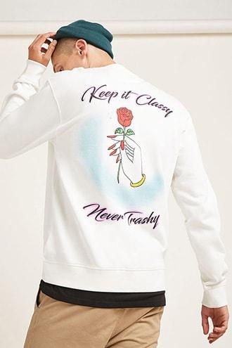 Forever21 Keep It Classy Sweatshirt