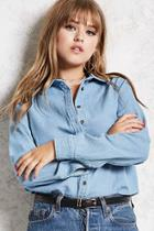 Forever21 Chambray Button-down Shirt