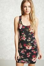 Forever21 Floral Bodycon Tank Dress
