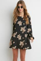 Forever21 Floral Chiffon Shift Dress