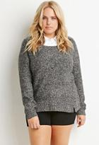 Forever21 Plus Layered-collar Sweater
