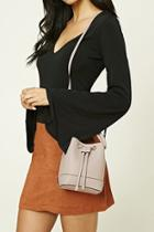 Forever21 Grey Faux Leather Mini Bucket Bag