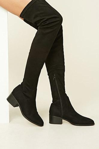 Forever21 Women's  Thigh-high Faux Suede Boots
