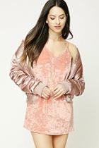 Forever21 Crushed Velvet Cami Dress