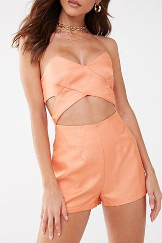 Forever21 Strapless Cutout Romper
