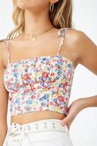 Forever21 Linen-blend Floral Cami