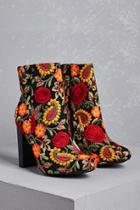 Forever21 Embroidered Ankle Boots