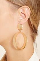 Forever21 Drop Hoop Earrings
