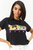 Forever21 Sailor Moon Graphic Cropped Tee