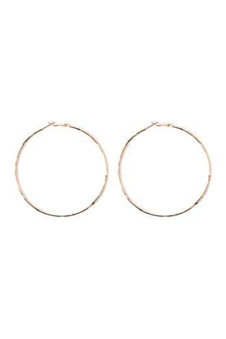 Forever21 Crinkled Hoop Earrings