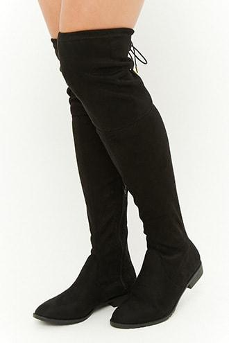 Forever21 Yoki Faux Suede Over-the-knee Boots