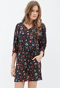 Forever21 Floral Dolman Dress