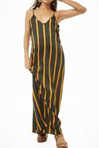 Forever21 Striped Satin Maxi Dress